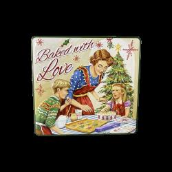 Jule kagedåse baked with love grøn