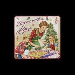 Jule kagedåse baked with love rød