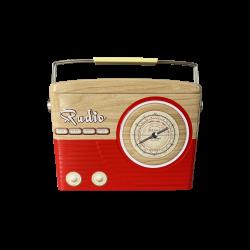Radio kagedåse rød