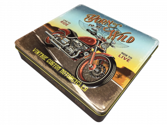 Retro Born to be wild motorcykel kagedåse