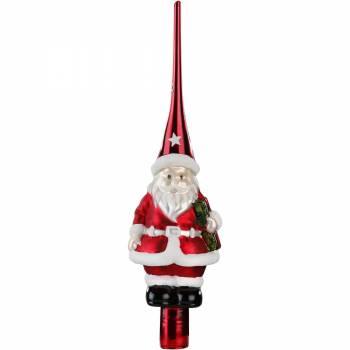Rød julemand spir 28 cm