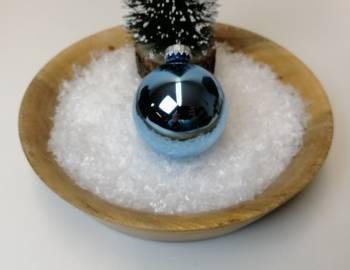 Alpinblå blank juletræskugle Ø 6.7 cm