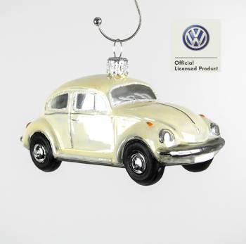 Beige VW folkevogn licens juletræs kugle