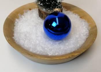Blå blank juletræskugle Ø 6.7 cm