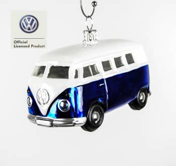 Blå VW folkevognsbus licens juletræskugle