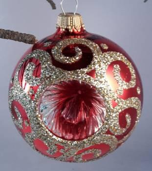 Blank rød reflektor juletræskugle