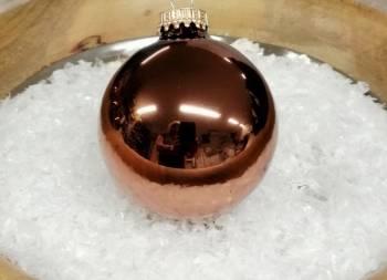 Blanke kobber juletræskugler Ø 6.7