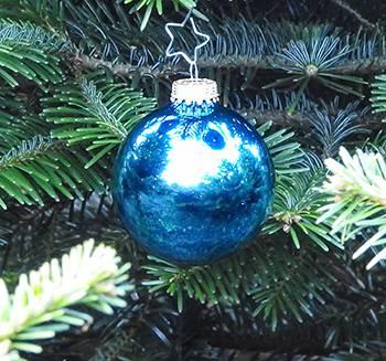 Lys turkis blank juletræskugle 6.7 cm