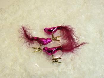 Fugle på clips i pink