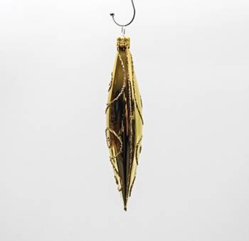 Guld dråber juletræskugler 14 cm