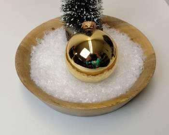 Guld højglans juletræskugler Ø 8 cm