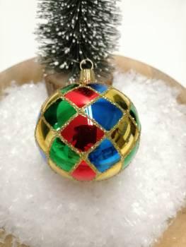 Harlekin juletræskugler Ø 8 cm