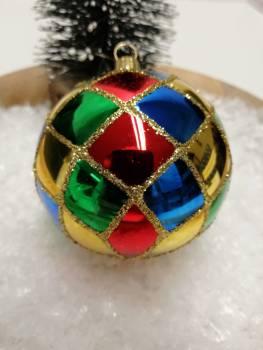 Harlekin juletræskugler Ø 6 cm