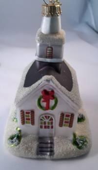 Hvid kirke juletræskugle til juletræet