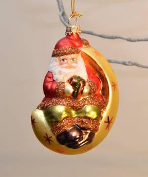 Julemand i guld julekugle med dekor