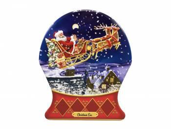 Julemand med sin kane kage dåse