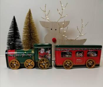 Julemandens juletog kage dåse