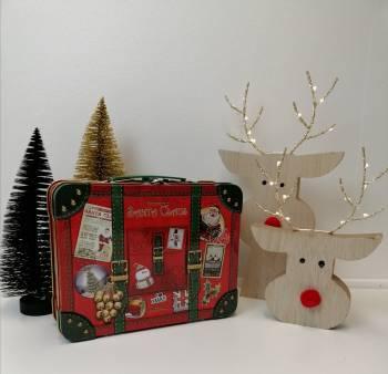 Julemandens kuffert kage dåse