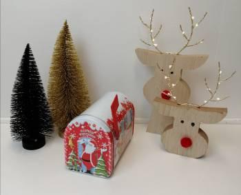 Julemandens postkasse kage dåse