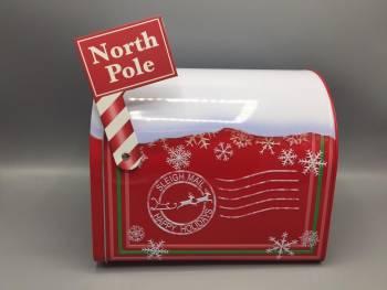 Kage dåse julemandens røde postkasse metal