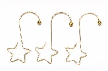 Kroge med stjerne til juletræskugler guld