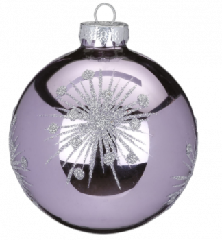 Lilla juletræskugler med sølv stjerner