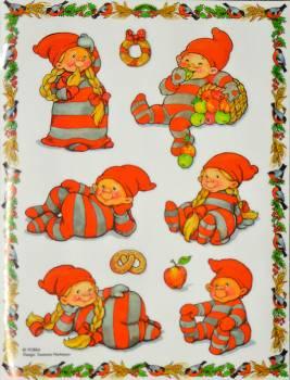 Nissetumlingernes vindue deko sticker