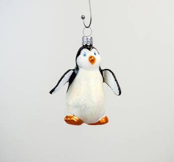 Pingvin glas juletræs kugle