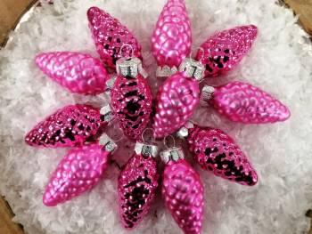 Pink og rosa juletræskogler