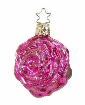 Pink rose juletræskugle Ø 6 cm