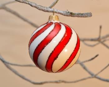 Porcelæns bolsje farvede juletræskugler