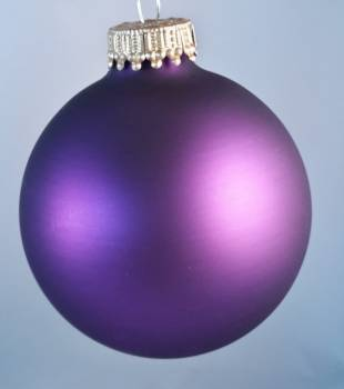 Purpur silkemat juletræskugle Ø 6.7 cm