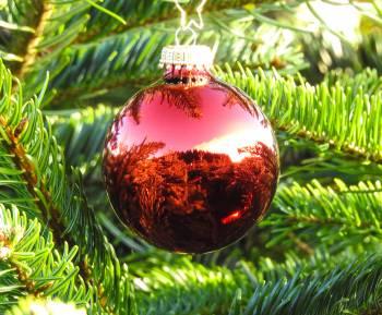 Lys lilla blank juletræskugle 6.7 cm