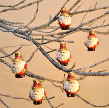 Søde buttede julemands julekugler
