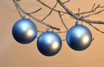 Silkematte alpin blå juletræskugler Ø 6.7 cm