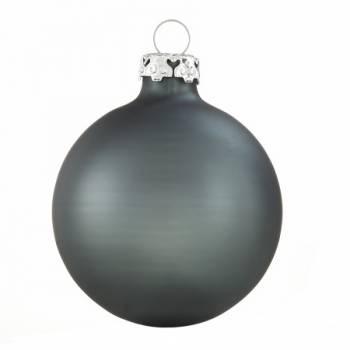 Silkematte antracit grå glas juletræs kugler