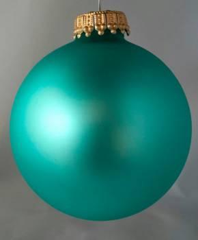Silkematte aqua juletræskugler Ø 6.7 cm