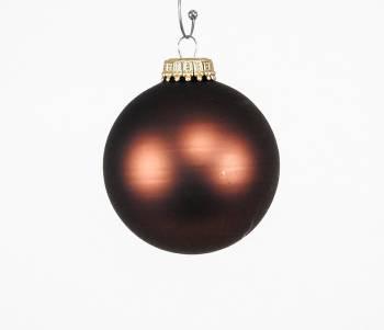 Silkematte mørk kobber juletræskugler Ø 6.7 cm
