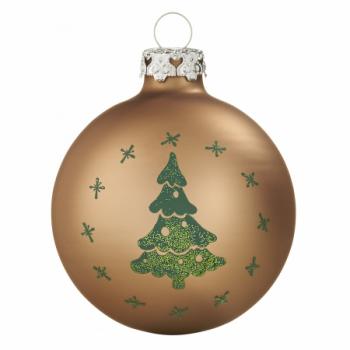 Silkematte kobber juletræ juletræskugler