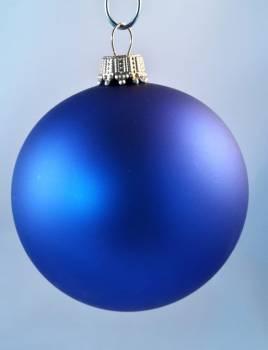 Silkematte kobolt blå juletræskugler Ø 6.7 cm