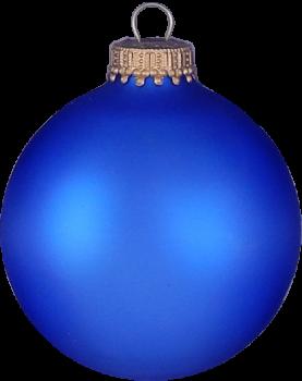 Silkematte kobolt blå juletræskugler Ø 8 cm