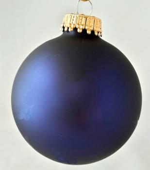 Silkematte midnatsblå juletræskugler Ø 6.7 cm