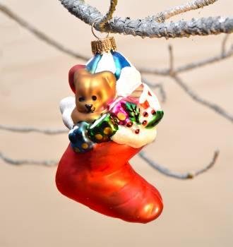 Rød julemands støvle juletræs kugle