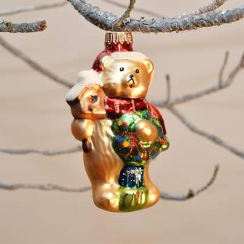 Smuk guld bamse med bamse i favn