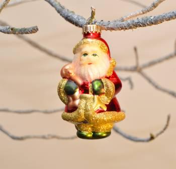 Smuk julemand med langt skæg julekugle