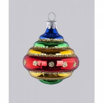 Snurretop mundblæst glas juletræskugler