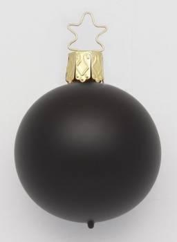 Sorte silkematte glas juletræskugler