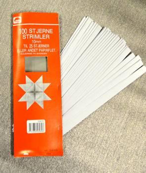 Stjerne strimler hvide 10 mm