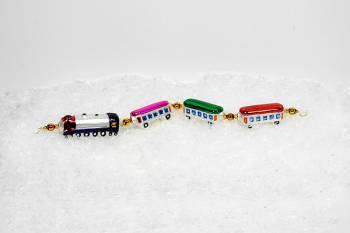 Tog med 4 vogne eksklusiv juletræskugler 30 cm