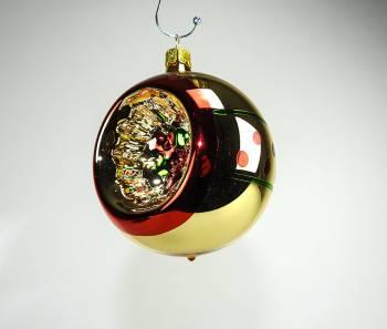 Vintage reflektor juletræskugle multifarvet